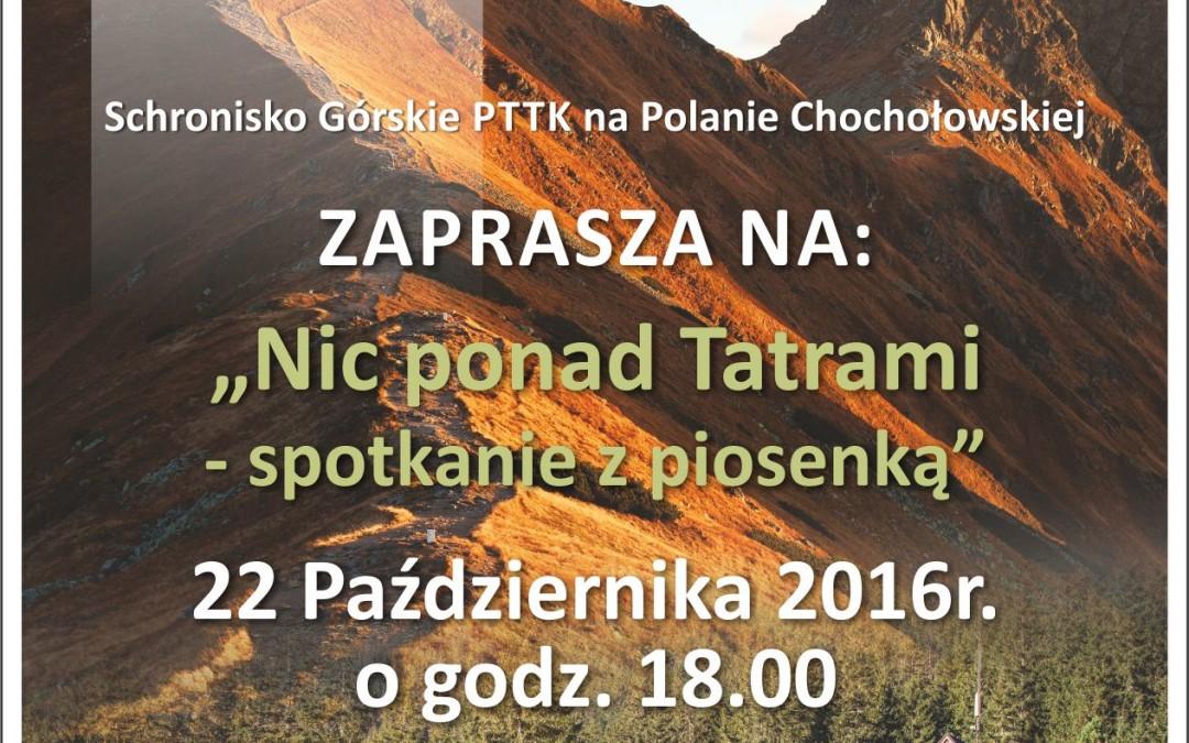 Nic ponad Tatrami – spotkanie z piosenką