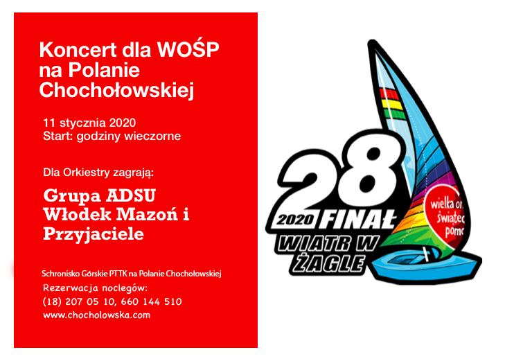 Zapraszamy na Finał WOŚP na Polanie Chochołowskiej